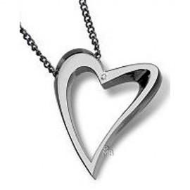 Collar Brosway DE02 corazon acero pequeño