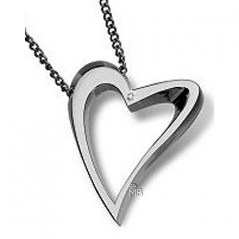 Collar Desire DE02 corazon acero pequeño