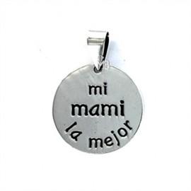 """Colgante Plata """"My family"""" -mi mami la mejor-"""