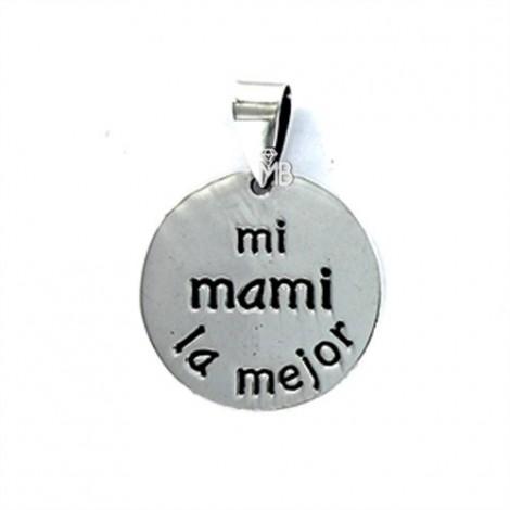 Colgante Plata -mi mami la mejor-