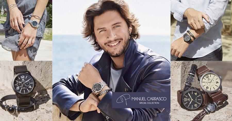 Manuel Carrasco embajador de relojes Marea